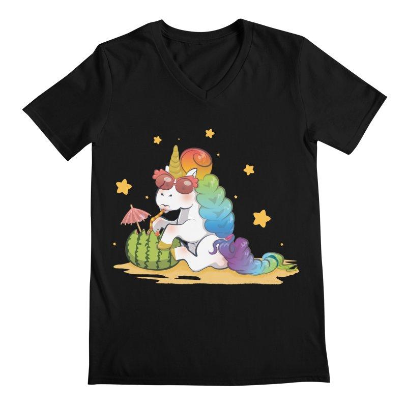 Even Unicorns ... Men's V-Neck by angelielle's Artist Shop