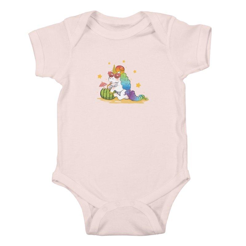 Even Unicorns ... Kids Baby Bodysuit by angelielle's Artist Shop
