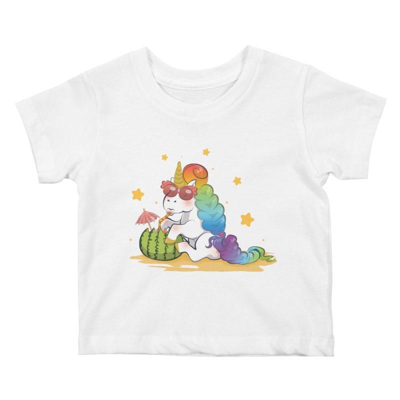Even Unicorns ... Kids Baby T-Shirt by angelielle's Artist Shop