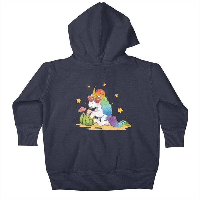 Even Unicorns ... Kids Baby Zip-Up Hoody by angelielle's Artist Shop