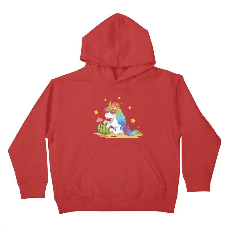 Even Unicorns ... Kids Pullover Hoody by angelielle's Artist Shop