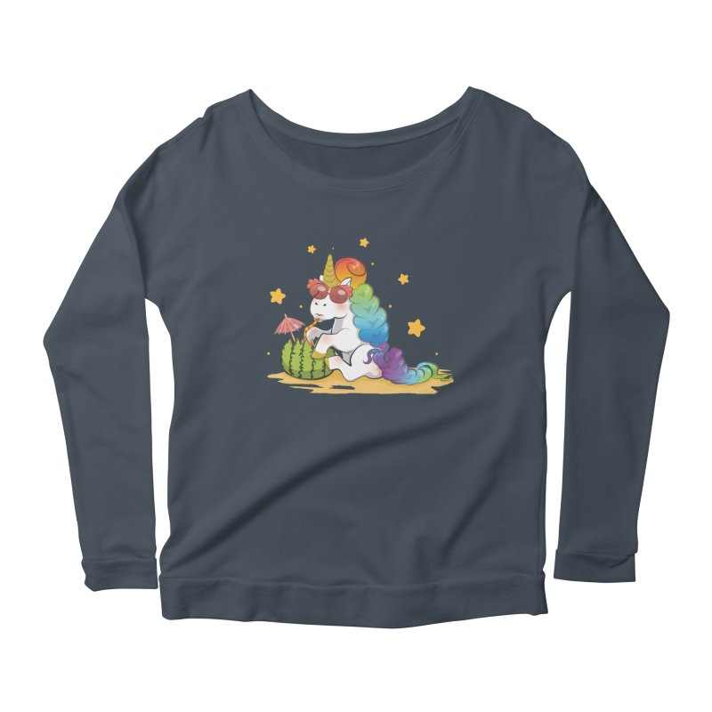 Even Unicorns ... Women's Scoop Neck Longsleeve T-Shirt by angelielle's Artist Shop