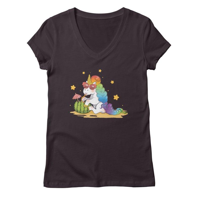 Even Unicorns ... Women's V-Neck by angelielle's Artist Shop