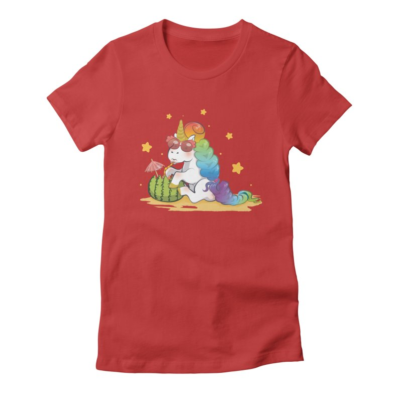 Even Unicorns ... Women's Fitted T-Shirt by angelielle's Artist Shop