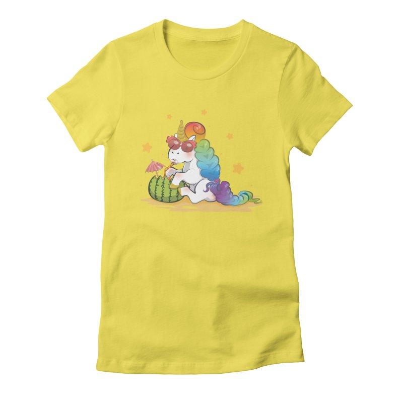 Even Unicorns ... Women's Fitted T-Shirt by angelielle's Artist Shop