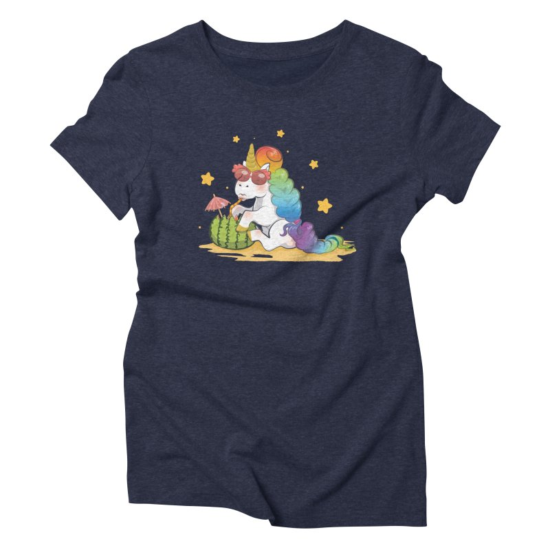 Even Unicorns ... Women's Triblend T-shirt by angelielle's Artist Shop