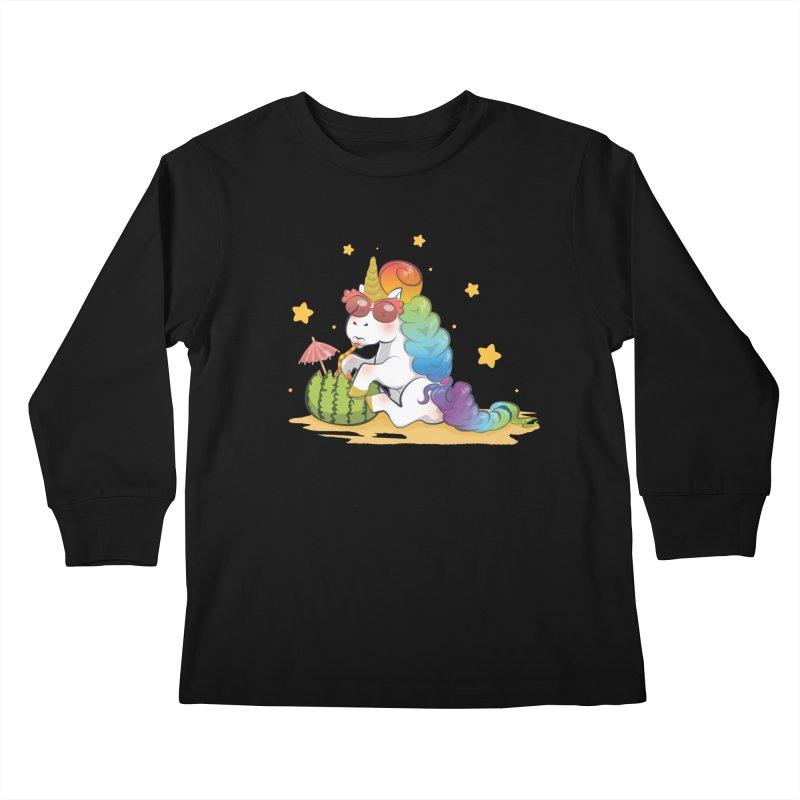 Even Unicorns ... Kids Longsleeve T-Shirt by angelielle's Artist Shop