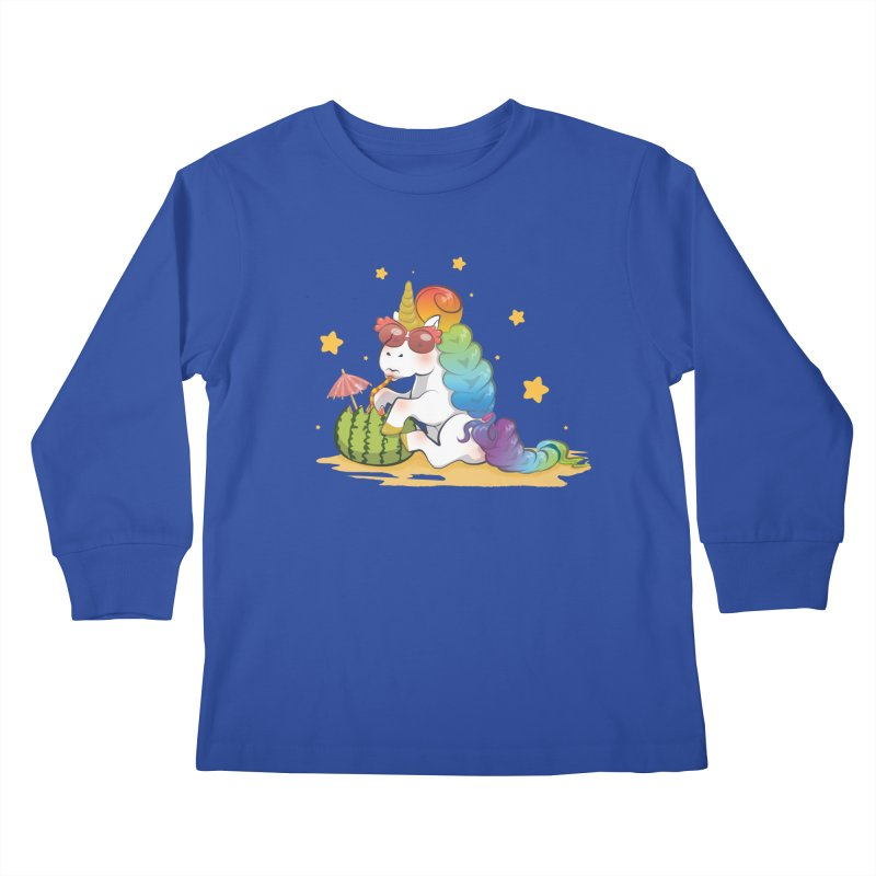 Even Unicorns ... Kids Longsleeve T-Shirt by angelielle's Artist Shop