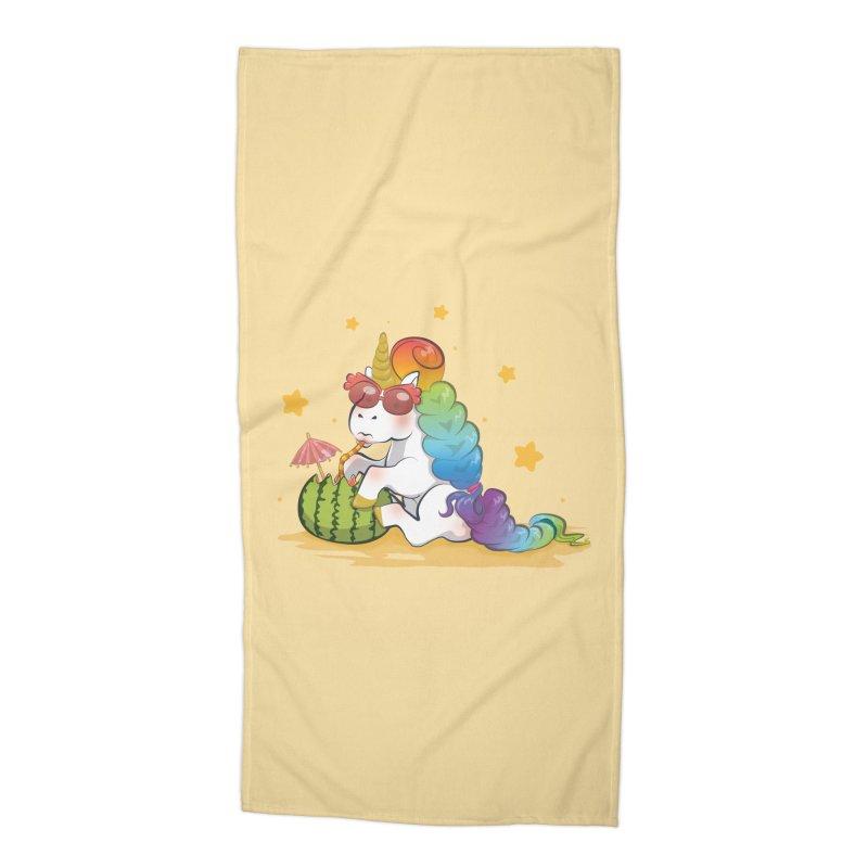 Even Unicorns ... Accessories Beach Towel by angelielle's Artist Shop