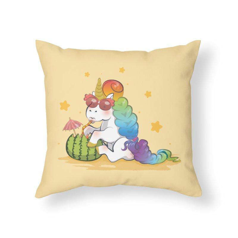 Even Unicorns ... Home Throw Pillow by angelielle's Artist Shop