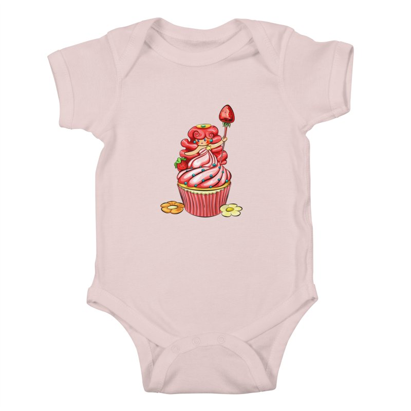 Cupcake Princess Kids Baby Bodysuit by angelielle's Artist Shop