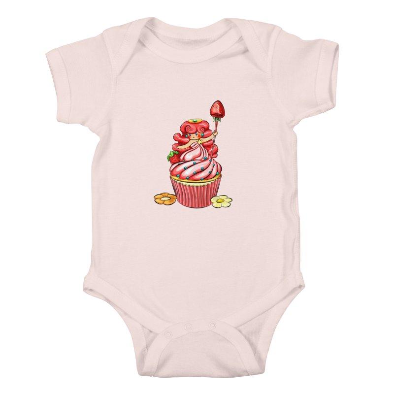 Cupcake Princess Kids Baby Bodysuit by angelielle's Artist Shop