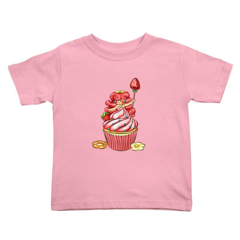 Cupcake Princess Kids Toddler T-Shirt by angelielle's Artist Shop