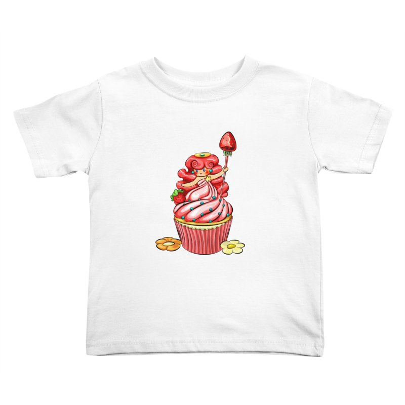 Cupcake Princess Kids Toddler T-Shirt by angelielle's Artist Shop