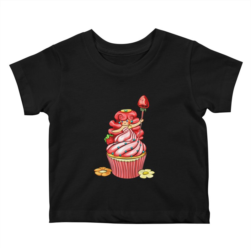 Cupcake Princess Kids Baby T-Shirt by angelielle's Artist Shop
