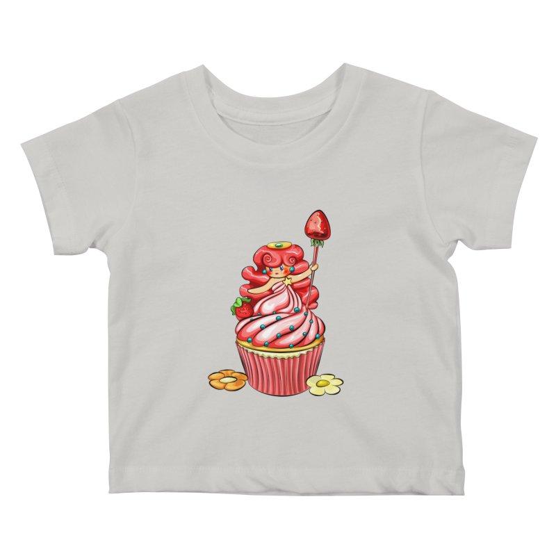 Cupcake Princess Kids Baby T-Shirt by angelielle's Artist Shop