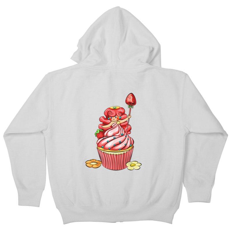 Cupcake Princess Kids Zip-Up Hoody by angelielle's Artist Shop