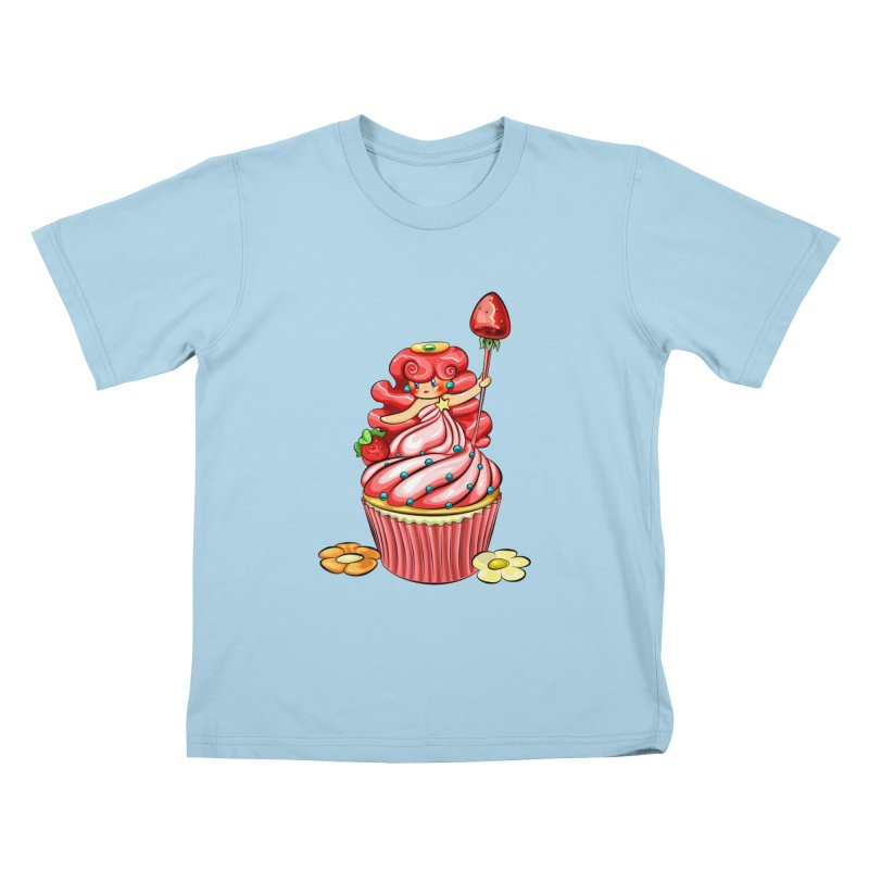 Cupcake Princess Kids T-Shirt by angelielle's Artist Shop