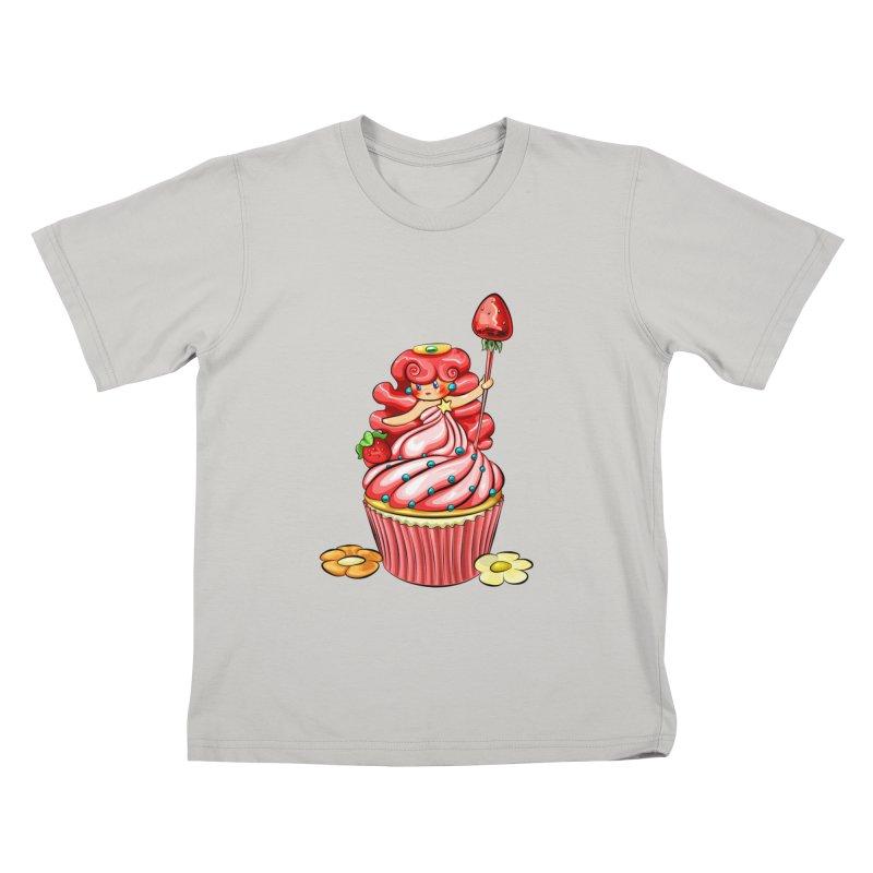 Cupcake Princess Kids T-shirt by angelielle's Artist Shop