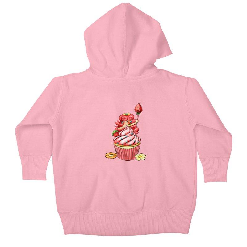 Cupcake Princess Kids Baby Zip-Up Hoody by angelielle's Artist Shop