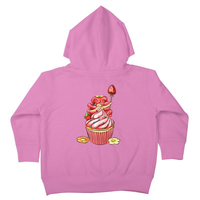Cupcake Princess Kids Toddler Zip-Up Hoody by angelielle's Artist Shop