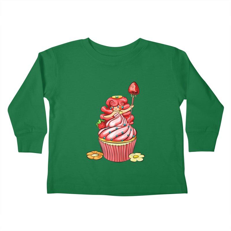 Cupcake Princess Kids Toddler Longsleeve T-Shirt by angelielle's Artist Shop