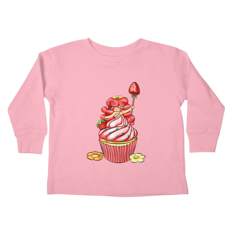 Cupcake Princess Kids Toddler Longsleeve T-Shirt by angelielle's Artist Shop