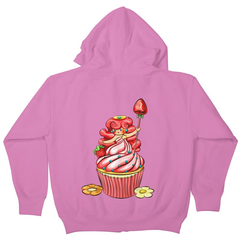 Cupcake Princess Kids Zip-Up Hoody by angelielle's Artist Shop