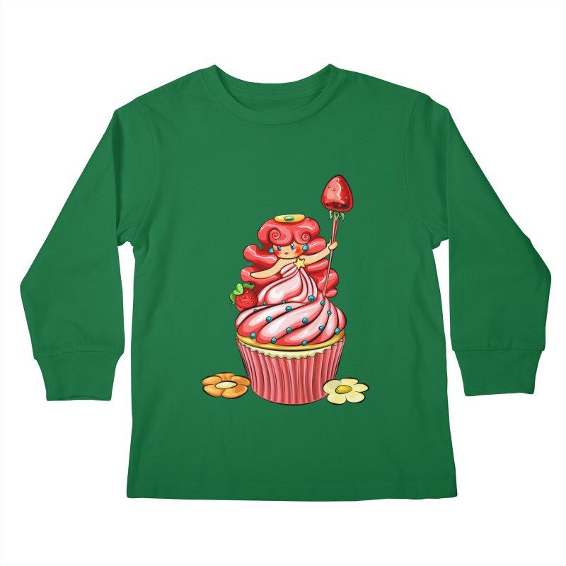 Cupcake Princess Kids Longsleeve T-Shirt by angelielle's Artist Shop