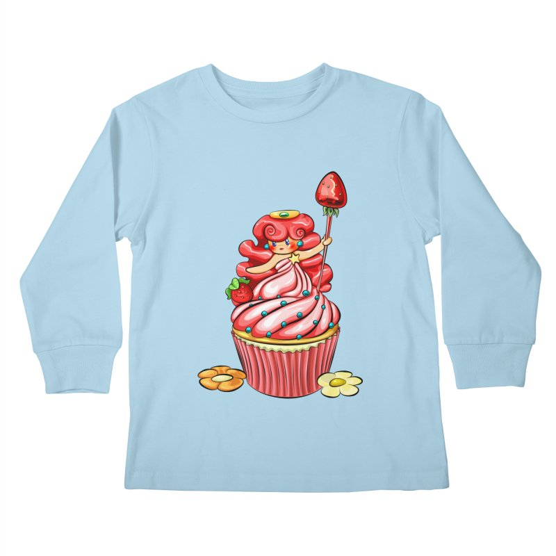 Cupcake Princess Kids Longsleeve T-Shirt by angelielle's Artist Shop