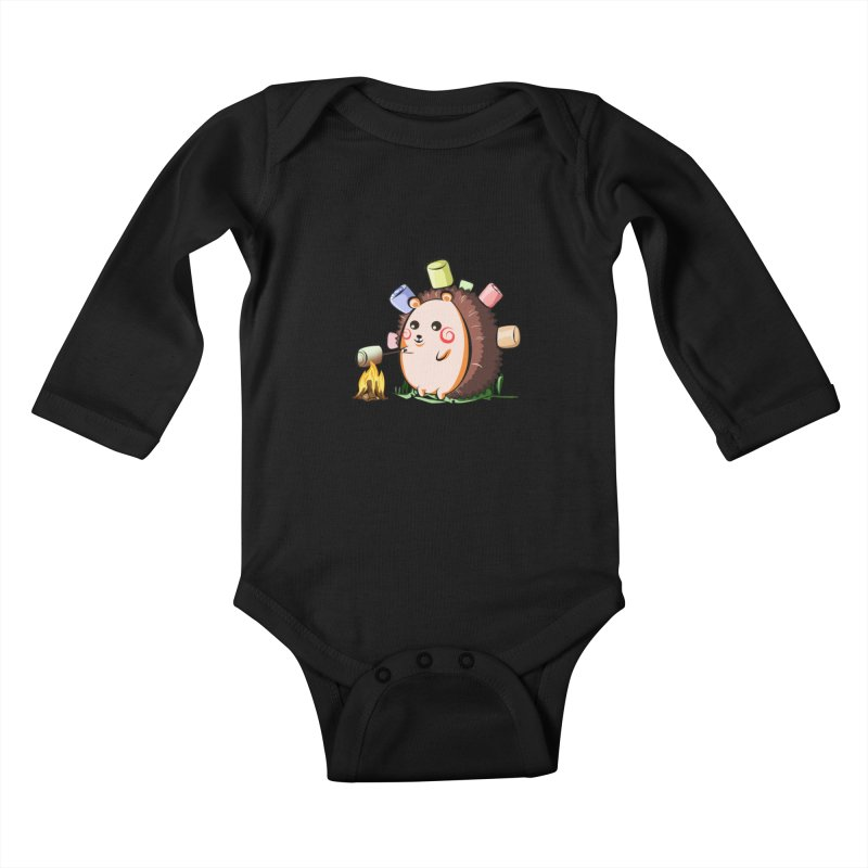 Hedgie Kids Baby Longsleeve Bodysuit by angelielle's Artist Shop