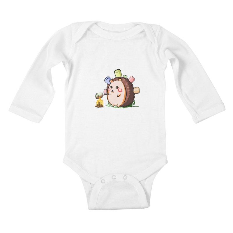 Hedgie Kids Baby Longsleeve Bodysuit by angelielle's Artist Shop
