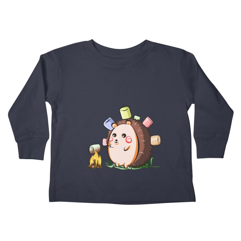 Hedgie Kids Toddler Longsleeve T-Shirt by angelielle's Artist Shop