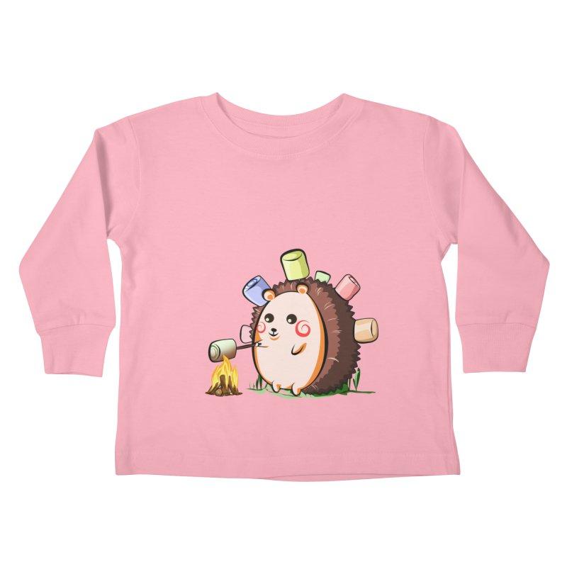 Hedgie Kids Toddler Longsleeve T-Shirt by angelielle's Artist Shop