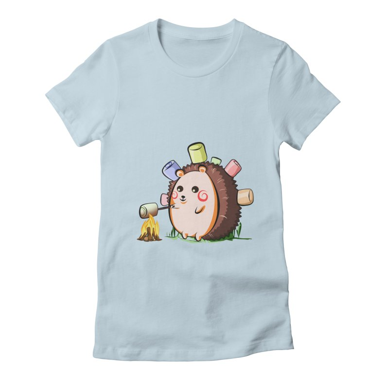 Hedgie Women's Fitted T-Shirt by angelielle's Artist Shop