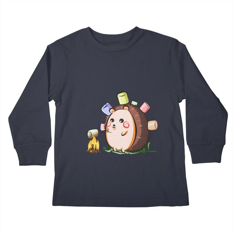Hedgie Kids Longsleeve T-Shirt by angelielle's Artist Shop