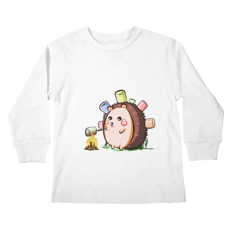 Hedgie Kids Longsleeve T-Shirt by angelielle's Artist Shop