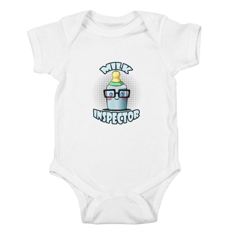 Milk Inspector Kids Baby Bodysuit by angelielle's Artist Shop