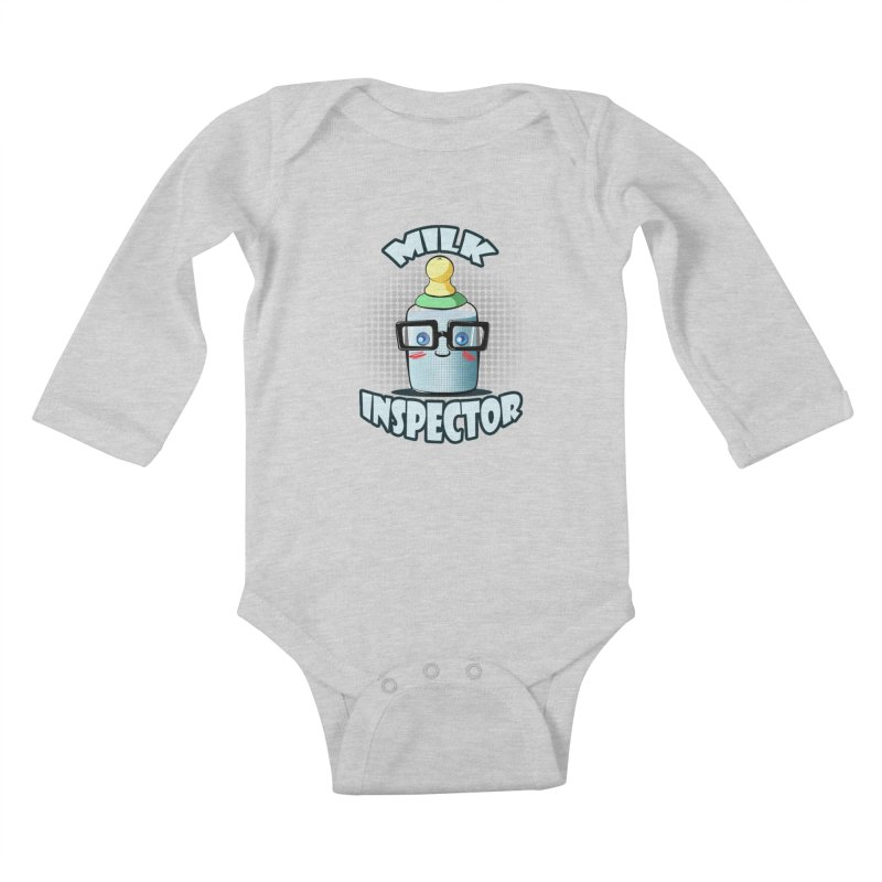 Milk Inspector Kids Baby Longsleeve Bodysuit by angelielle's Artist Shop