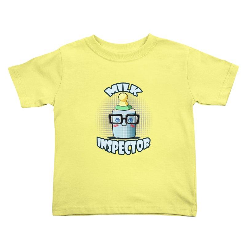 Milk Inspector Kids Toddler T-Shirt by angelielle's Artist Shop