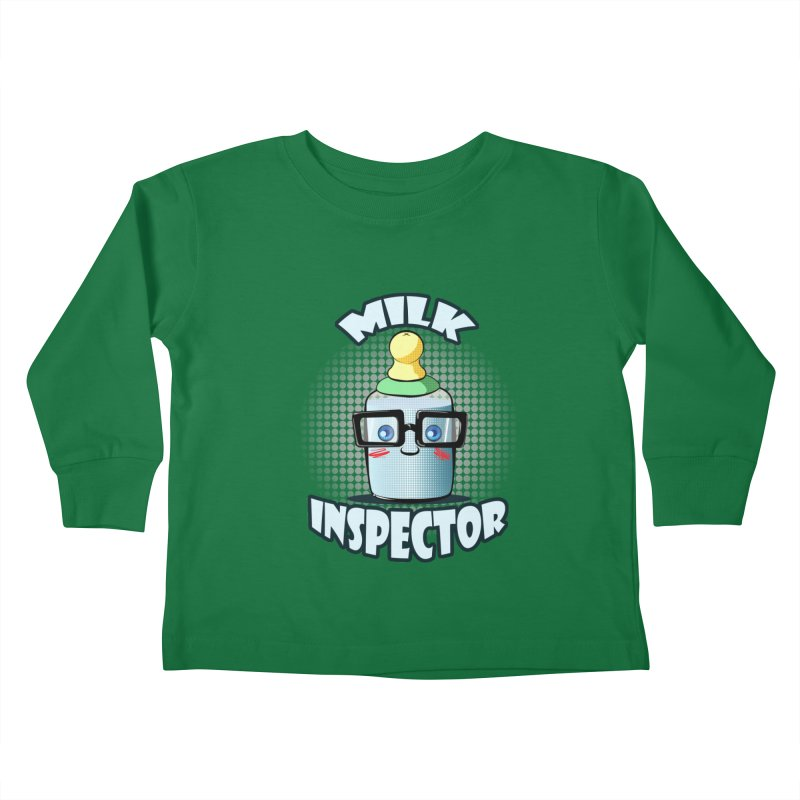 Milk Inspector Kids Toddler Longsleeve T-Shirt by angelielle's Artist Shop