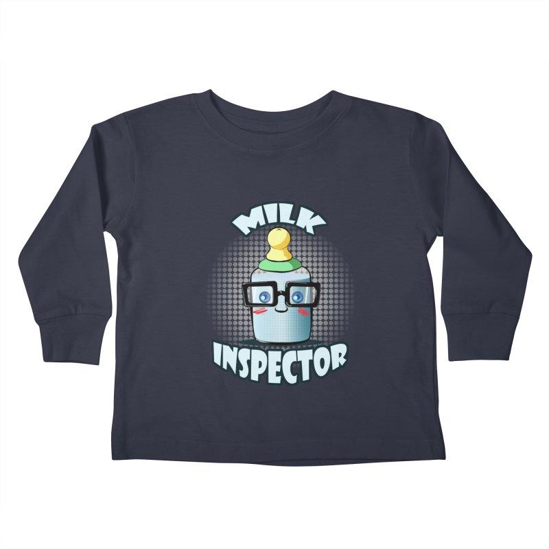 Milk Inspector Kids Toddler Longsleeve T-Shirt by angelielle's Artist Shop