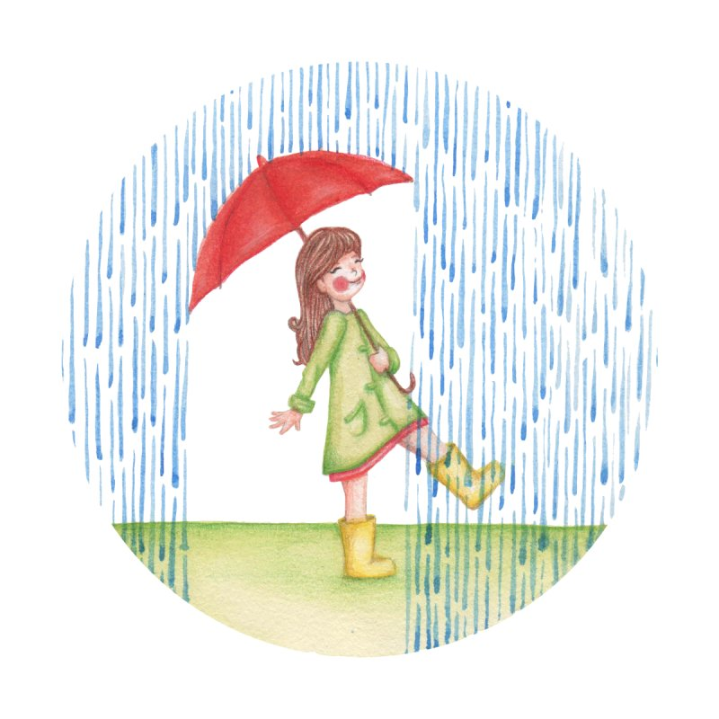 Dancing in the Rain by Angelilu's Artist Shop
