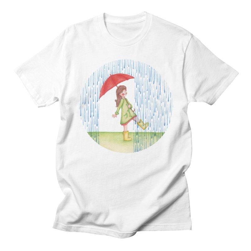 Dancing in the Rain Women's Regular Unisex T-Shirt by Angelilu's Artist Shop