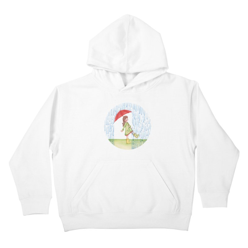 Dancing in the Rain Kids Pullover Hoody by Angelilu's Artist Shop