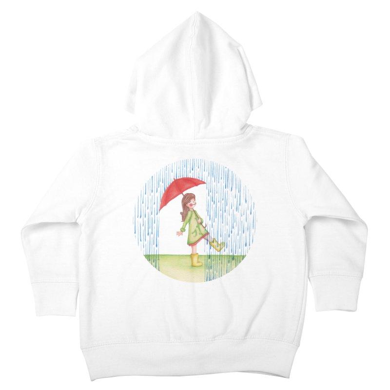 Dancing in the Rain Kids Toddler Zip-Up Hoody by Angelilu's Artist Shop