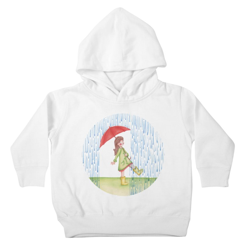 Dancing in the Rain Kids Toddler Pullover Hoody by Angelilu's Artist Shop