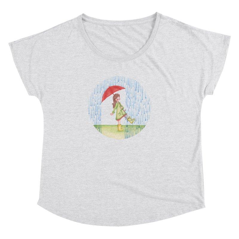 Dancing in the Rain Women's Dolman Scoop Neck by Angelilu's Artist Shop