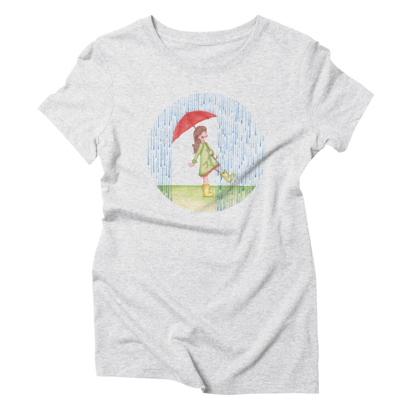 Dancing in the Rain Women's Triblend T-Shirt by Angelilu's Artist Shop