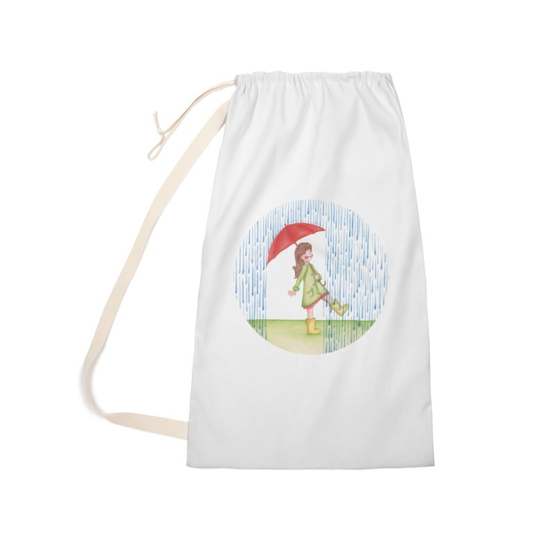 Dancing in the Rain Accessories Laundry Bag Bag by Angelilu's Artist Shop